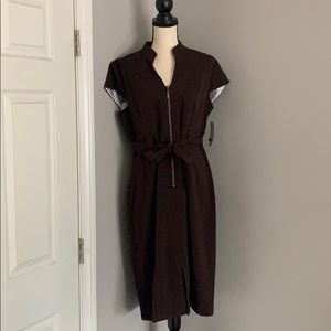 Fully lined belted dress